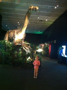 Holly was a bit scared of the dinosaurs!