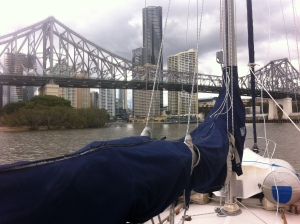 Coming under the story bridge - Brisbane
