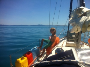 Sailing to Lindeman Island, stunning day, islands everywhere!